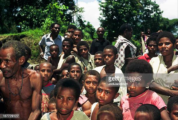 papua new guinea village people - papua new guinea stock pictures, royalty-free photos & images