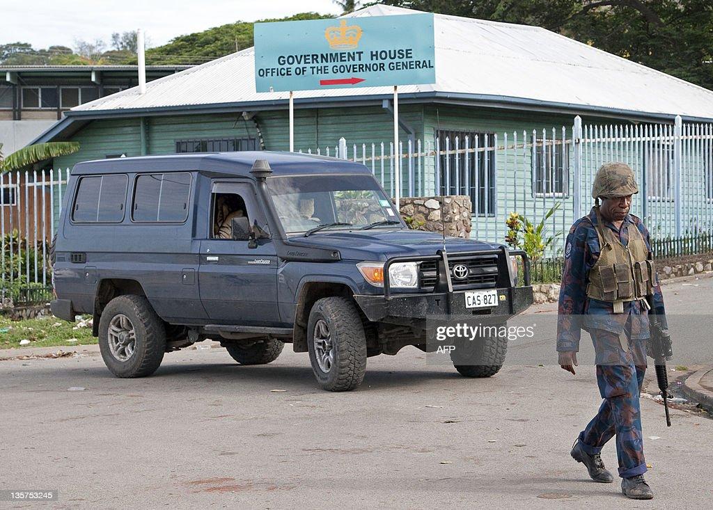 Papua New Guinean Army special forces pa : Fotografía de noticias