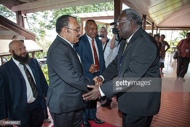 Papua New Guinea's Peter O'Neill is welcomed in Port Moresby on May 30 2012 Papua New Guinea appointed Peter O'Neill as prime minister the third time...
