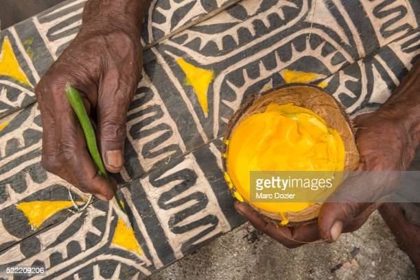 papuan craft - papua new guinea stock pictures, royalty-free photos & images