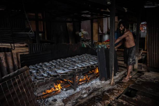IDN: Smoked Fish Processing in Jayapura.