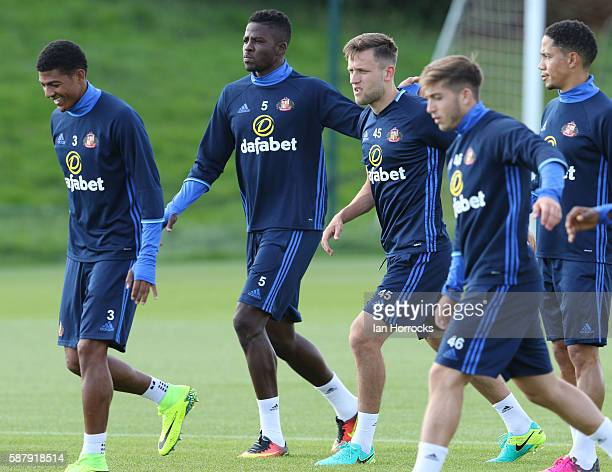 Papy Djilobodji during a Sunderland AFC training session at The Academy of Light on August 10 2016 in Sunderland England