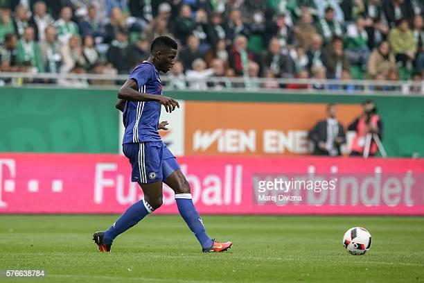 Papy Djilobodji of Chelsea in action during an friendly match between SK Rapid Vienna and Chelsea FC at Allianz Stadion on July 16 2016 in Vienna...