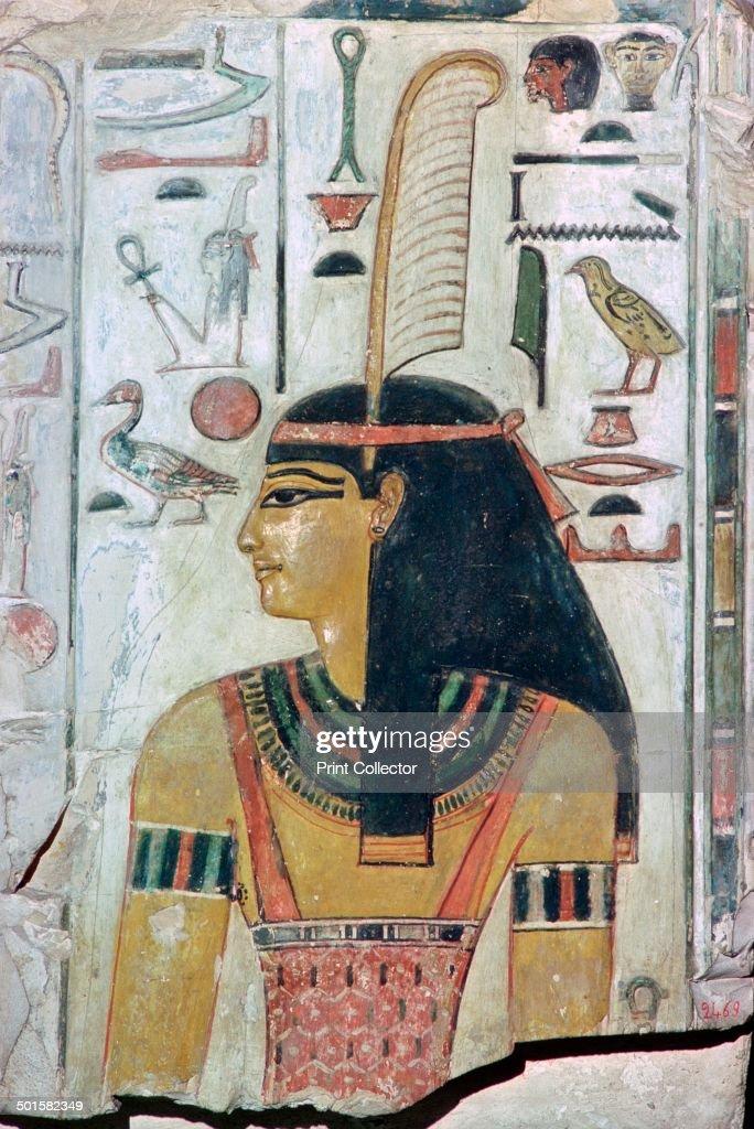 Papyrus image of the goddess Maat. : News Photo