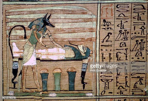 a detail from the papyrus of Ani a Theban Book of the Dead from the British Museum's collection