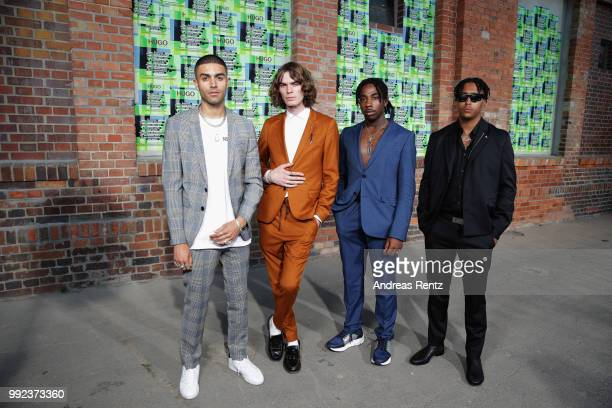PAQoffical attend the HUGO show during the Berlin Fashion Week Spring/Summer 2019 at Motorwerk on July 5 2018 in Berlin Germany