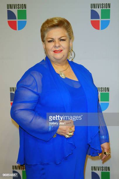Paquita la del Barrio arrives at Univisions 2010 Premio Lo Nuestro a La Musica Latina Awards>> at American Airlines Arena on February 18 2010 in...