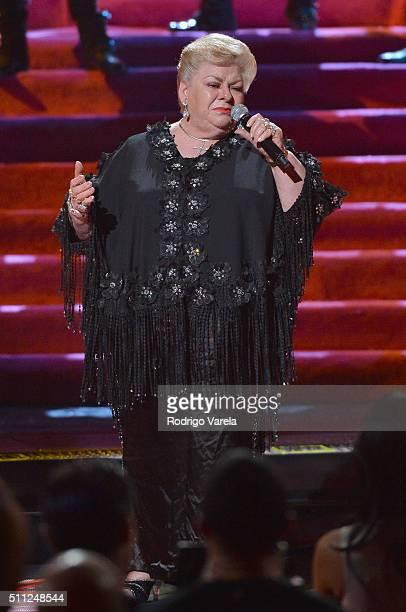 Paquita La Del Barrio performs onstage during Univision's 28th Edition of Premio Lo Nuestro A La Musica Latina on February 18 2016 in Miami Florida