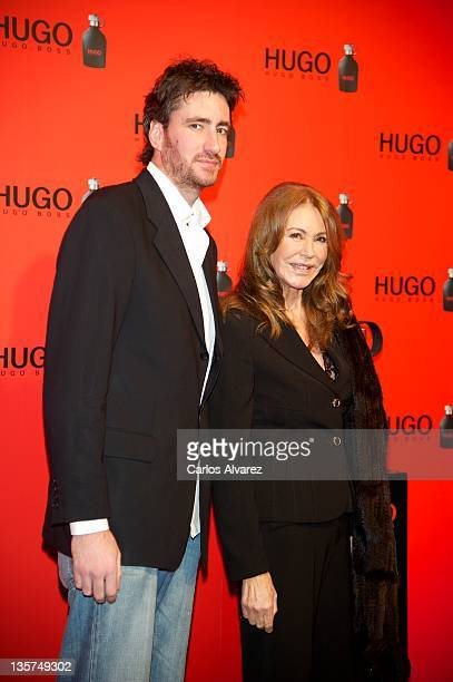 Paquita Torres and Alex Luyk attend Hugo Boss night party 2011 on December 13 2011 in Madrid Spain