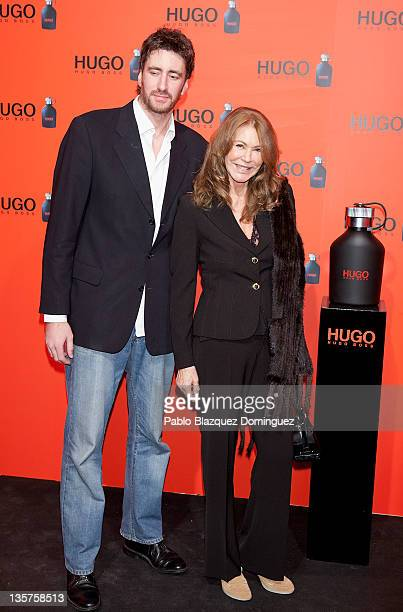 Paquita Torres and Alex Luyk attends Hugo Boss Night Party on December 13 2011 in Madrid Spain