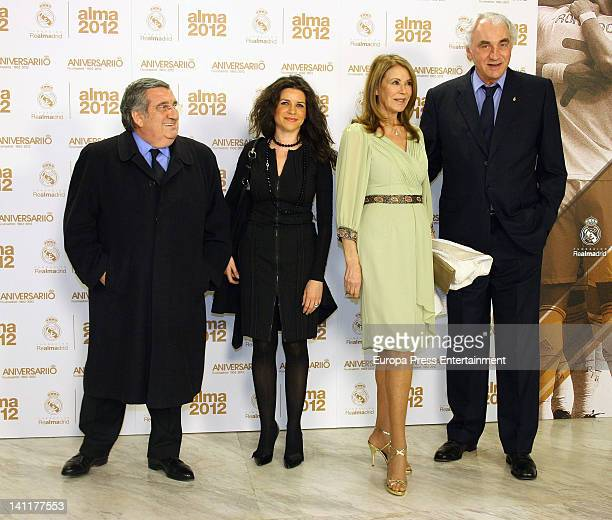 Paquita Torres and Cliford Luyck attend 'Alma Awards' by Real Madrid Foundation at Palacio Municipal de Congresos on March 9 2012 in Madrid Spain