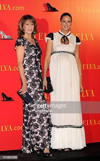 Paquita Torres and Estefania Luyck attend Telva Awards 2010 at the Palacio de Cibeles on October 25 2010 in Madrid Spain