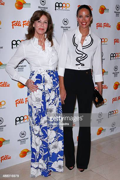 Paquita Torres and Estefania Luyk attend Folli Follie Excelence Awards 2014 on May 5 2014 in Madrid Spain