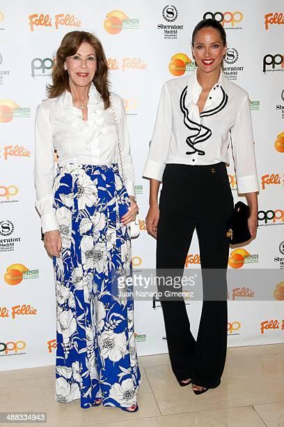 Paquita Torres and Estefania Luyk attend 'Premios Naranja Limon Awards 2013' at Sherator Mirasierra Hotel on May 5 2014 in Madrid Spain
