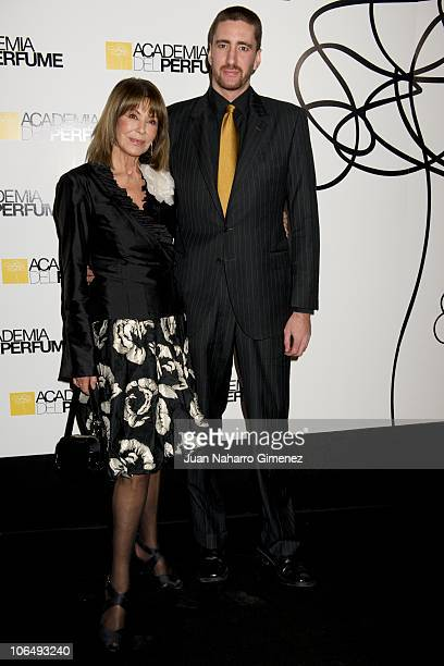 Paquita Torres and her son Alejandro Luyk attend 'Academia del Perfume' awards at Pacha on November 3 2010 in Madrid Spain