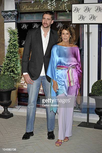 Paquita Torres and her son Alejandro Luyk attend Pedro del Hierro Spots party at Santa Barbara Palace on September 30 2010 in Madrid Spain