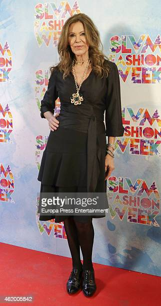 Paquita Torres attends 'Salvame Fashion Week' on January 22 2015 in Madrid Spain
