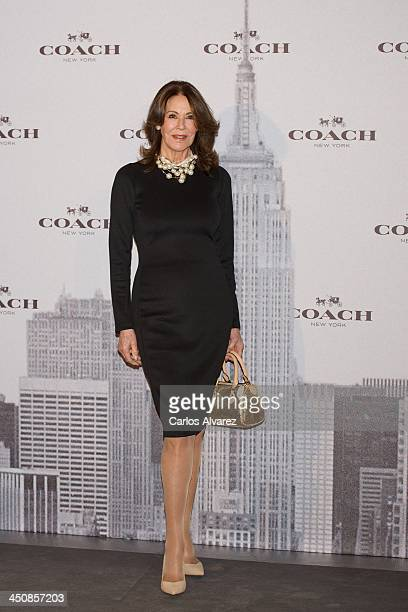 Paquita Torres attends the Coach Boutique opening on November 20 2013 in Madrid Spain
