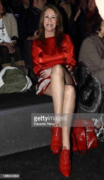 Paquita Torres attends the Francis Montesinos show during MercedesBenz Fashion Week Madrid A/W 2012 at Ifema on February 1 2012 in Madrid Spain