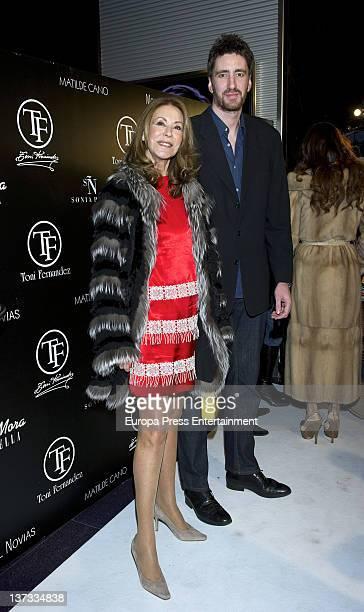 Paquita Torres attends the runway at Tony Hernandez SpringSummer 2012 fashion show at Joy Eslava Club on January 18 2012 in Madrid Spain