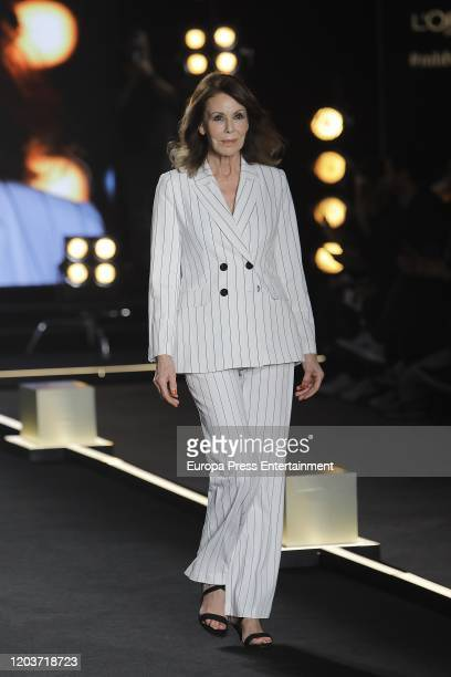 Paquita Torres walks for L'Oreal Fashion Show during the Mercedes Benz Fashion Week Autumn/Winter 202021 at Cibeles Palace on January 31 2020 in...