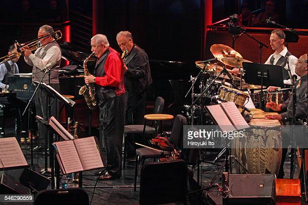 Paquito D'Rivera Around the Americas at Rose Theater on Friday night March 27 2015This imageFrom left Alex Brown Diego Urcola Paquito D'Rivera Oscar...
