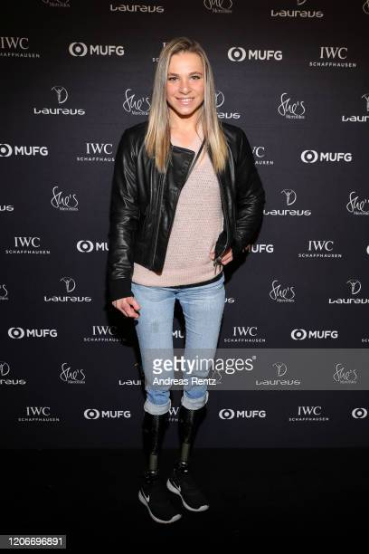 Para cyclist Oksana Masters attends She's Mercedes prior to the 2020 Laureus World Sports Awards on February 16 2020 in Berlin Germany