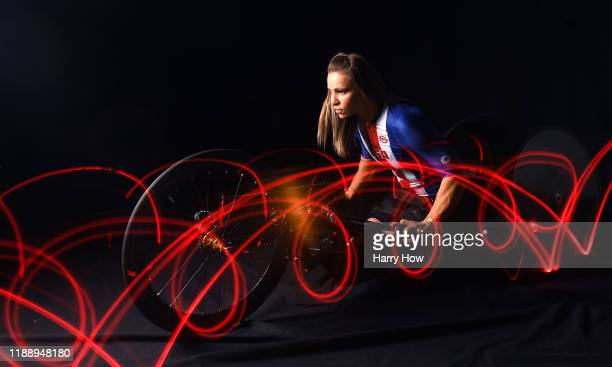 Para cyclist Oksana Masters poses for a portrait during the Team USA Tokyo 2020 Olympics shoot on November 20 2019 in West Hollywood California