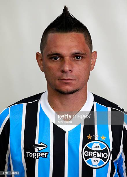 Para of Gremio FootBall Porto Alegrense poses during a portrait session on August 14 2014 in Porto AlegreBrazil
