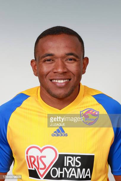 Para poses for photographs during the Vegalta Sendai portrait session on January 9, 2020 in Japan.