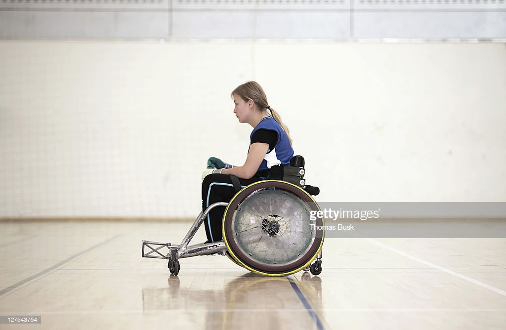 Para rugby player in wheelchair : Stock Photo