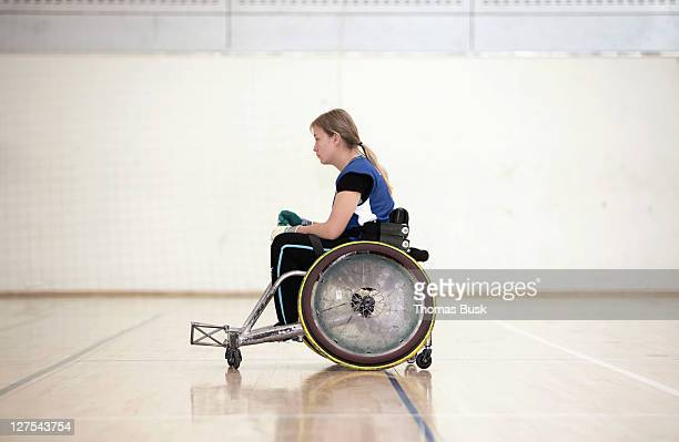 para rugby player in wheelchair - paraplegic stock photos and pictures