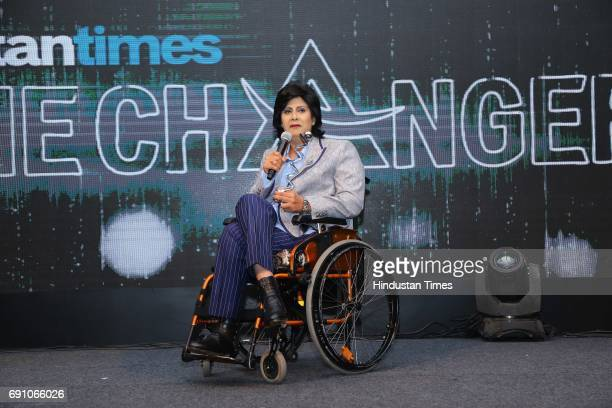 Paraathlete Deepa Malik during the Hindustan Times Game Changer Awards 2017 at Hotel Oberoi on May 24 2017 in Gurgaon India