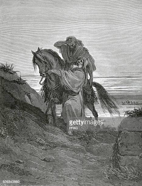 Parable of the Good Samaritan Gospel of Luke Engraving by Gustave Dore 19th century