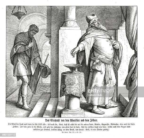 Parable of the Pharisee and the publican Gospel of Luke chapter XVIII verses 11 13 'The Pharisee stood and prayed thus with himself God I thank thee...
