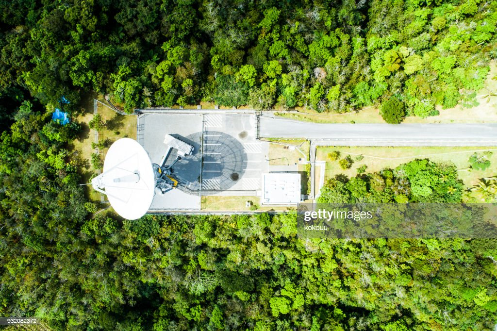 Parabona antenna in the mountains. : Stock Photo