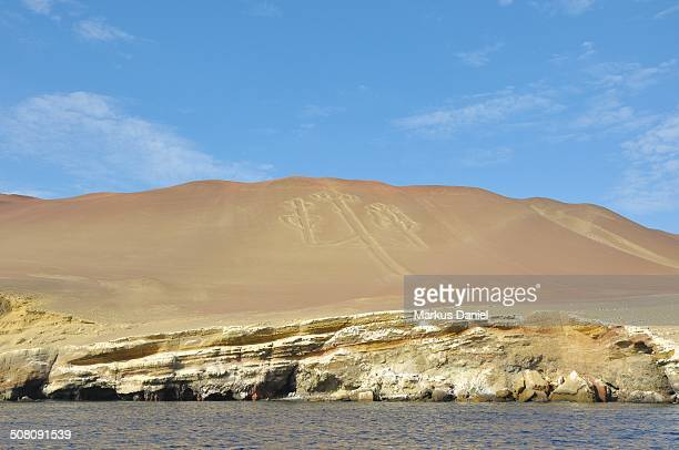 "paracas candelabra, ica, peru - ""markus daniel"" stock pictures, royalty-free photos & images"