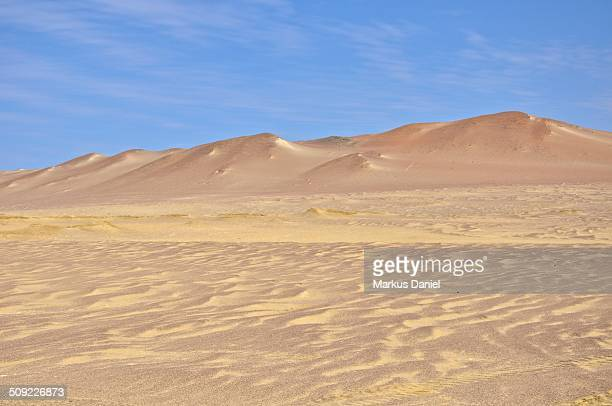 Paracas desert sands and mountains