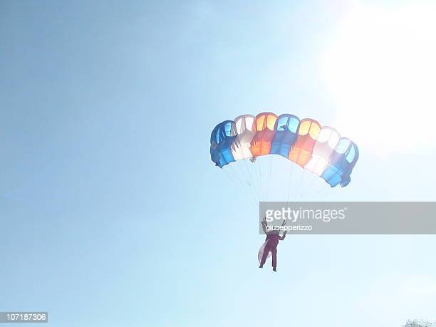 parachute in nicosia/lefkosa, cyprus - paratrooper stock pictures, royalty-free photos & images