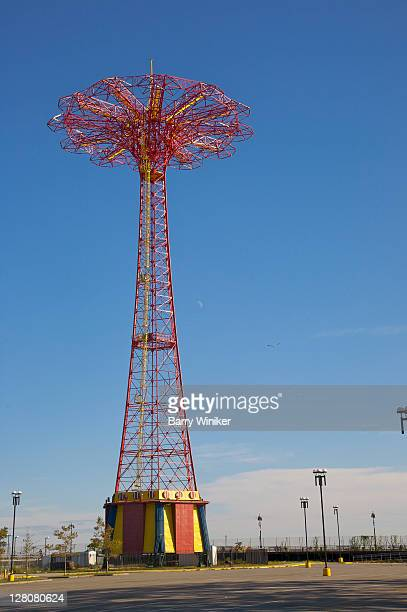 Parachute Jump, Thrill ride from 1939-1940 World's Fair, moved to Steeplechase Park, Coney Island, now NYC landmark, Brooklyn, New York, U.S.A.