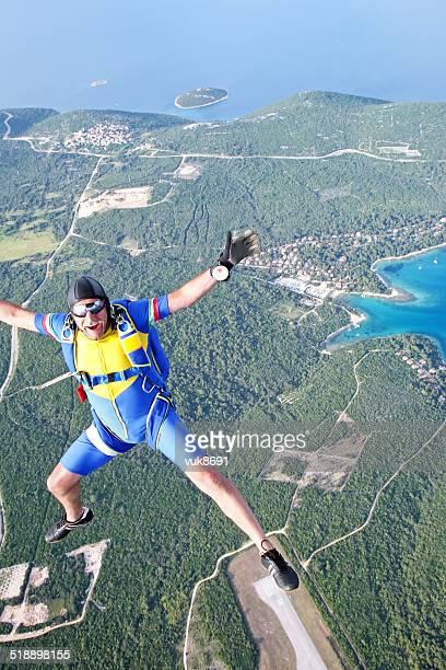 Parachutist in der