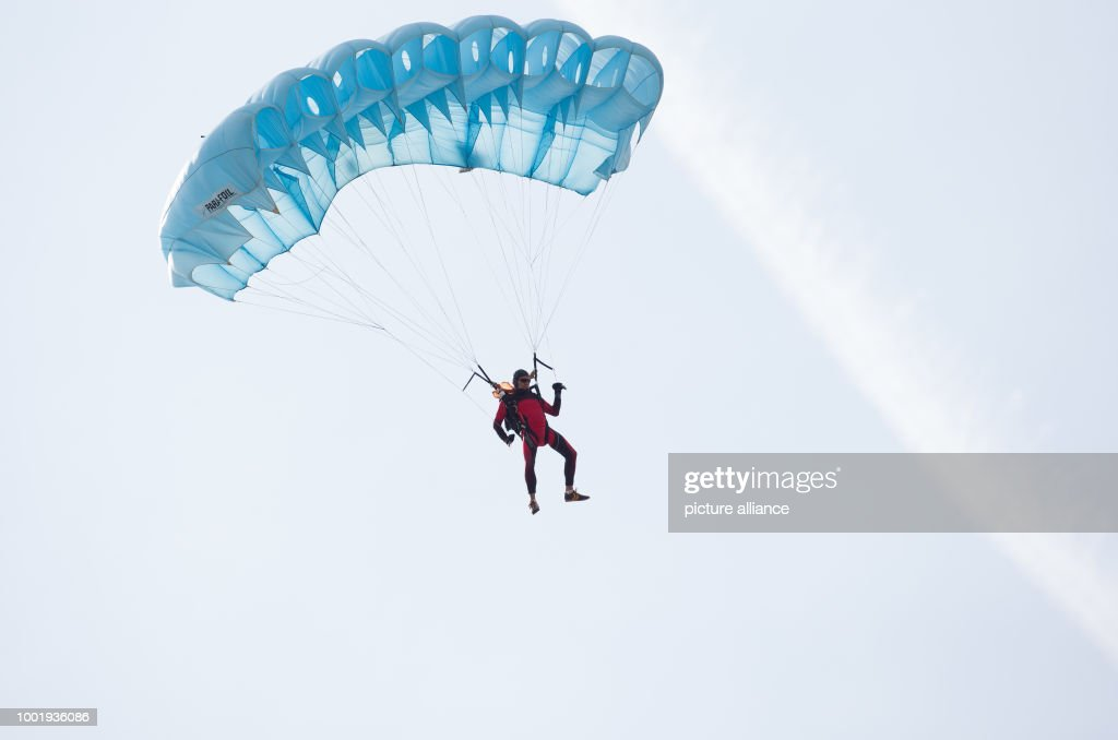 A Parachutist Over The Airfield In Bad Sassendorf, Germany, 11 July 2017.  434