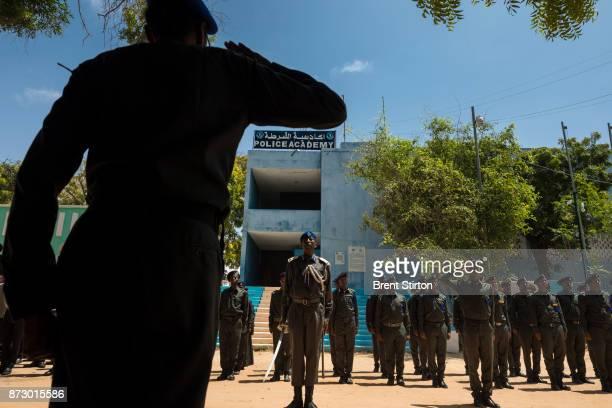 Parade at the Police academy in Mogadishu.