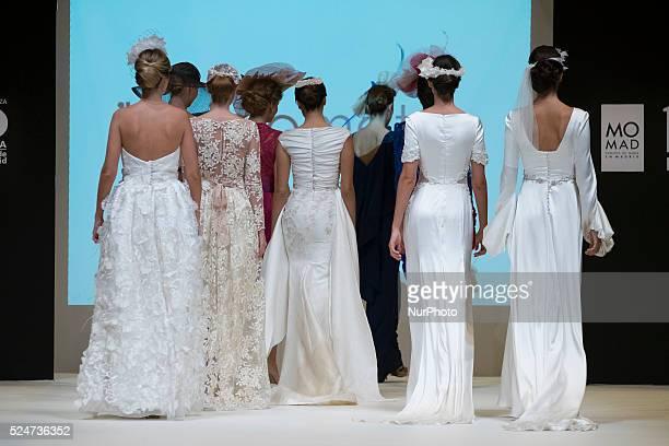 Parade bridal outfits designer HIGINIOMATEU during the week of bridal fashion in Madrid 2015 on October 23 2015