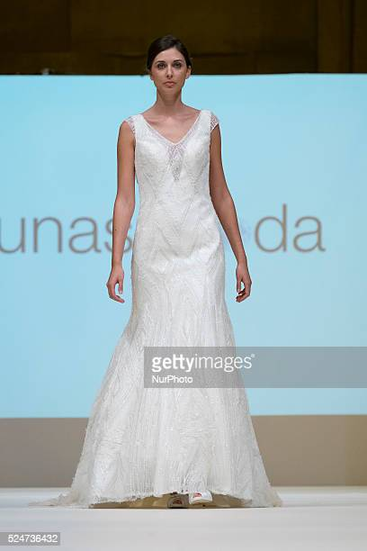 Parade bridal outfits designer LUNASDBODA during the week of bridal fashion in Madrid 2015 on October 23 2015