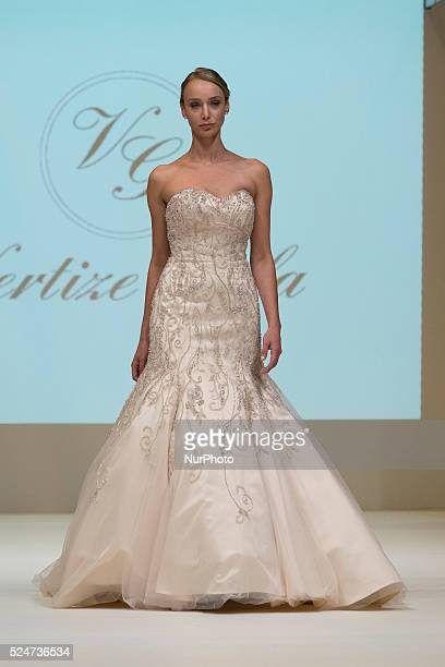Parade bridal outfits designer Vertize Gala during the week of bridal fashion in Madrid 2015 on October 23 2015