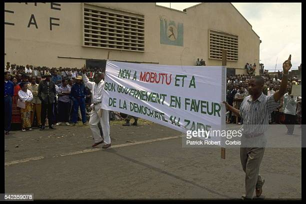 Parade by opponents of the Mobutu regime