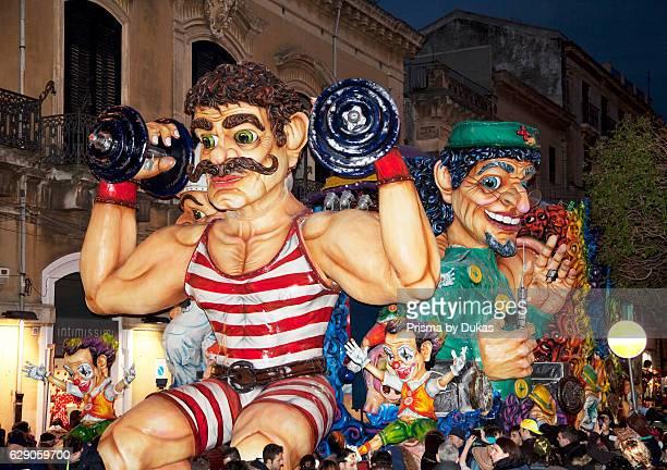 Parade Carnival Acireale Sicily Italy