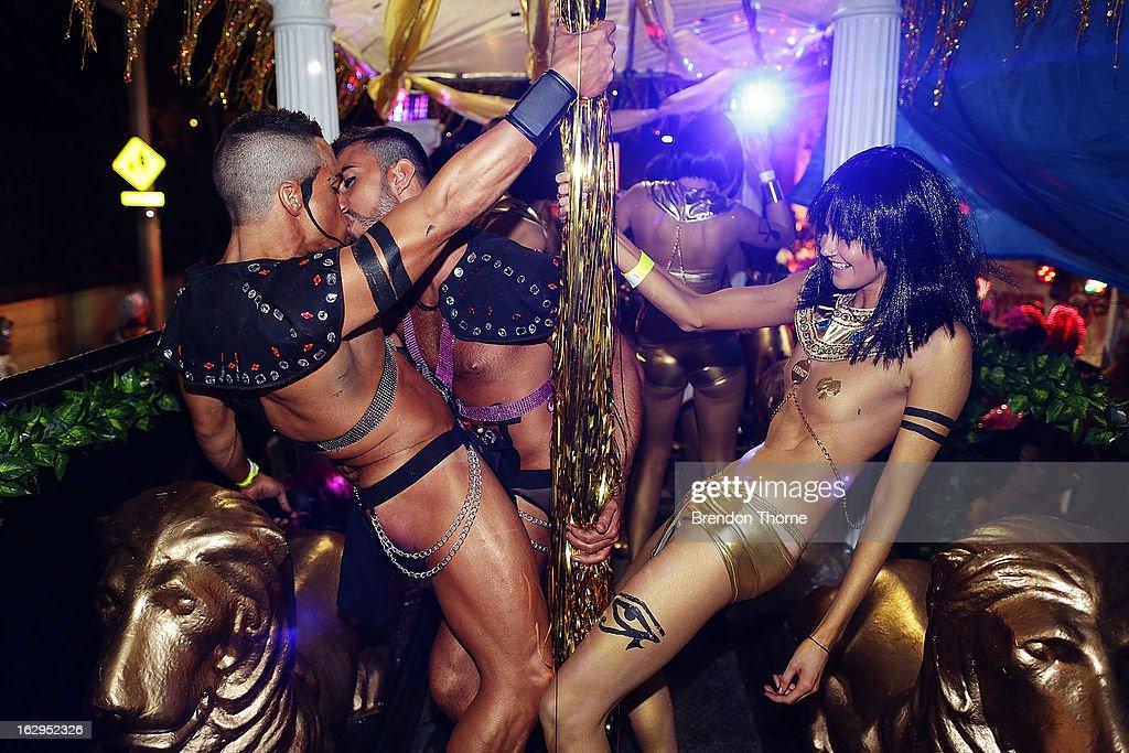 Lesbian go go dancers