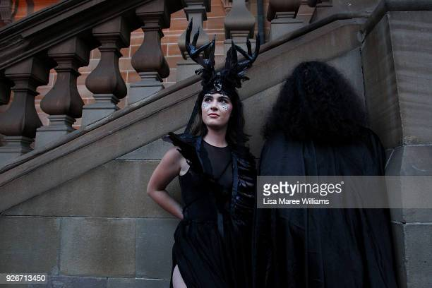 Parade goers dress in costume during the 2018 Sydney Gay Lesbian Mardi Gras Parade on March 3 2018 in Sydney Australia The Sydney Mardi Gras parade...